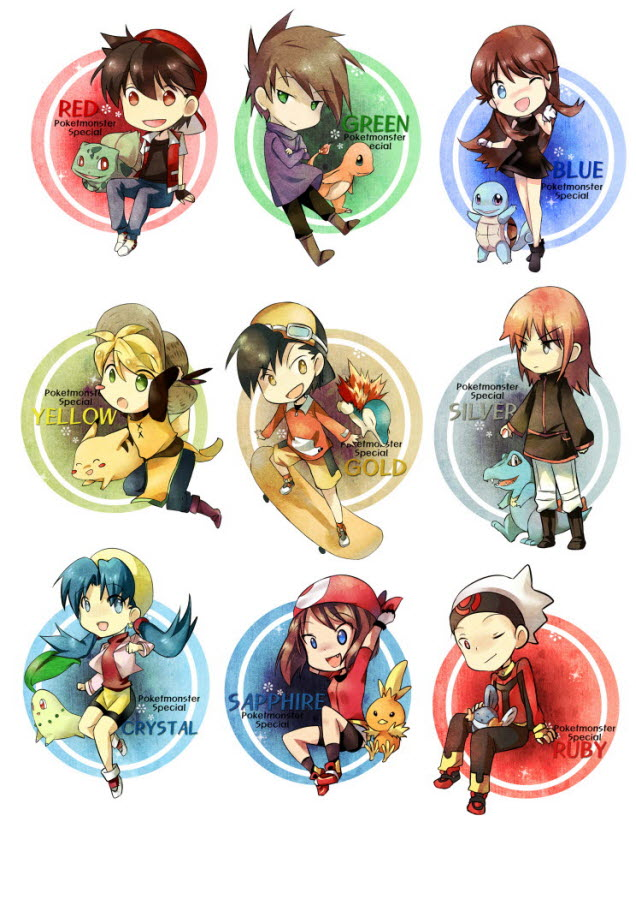 Tags: Anime, Tachiuo, Pokémon SPECIAL, Pokémon, Green Oak (Pokémon SPECIAL), Chikorita, Crystal (Pokémon SPECIAL), Pikachu, Torchic, Blue (Pokémon SPECIAL), Charmander, Silver (Pokémon SPECIAL), Bulbasaur