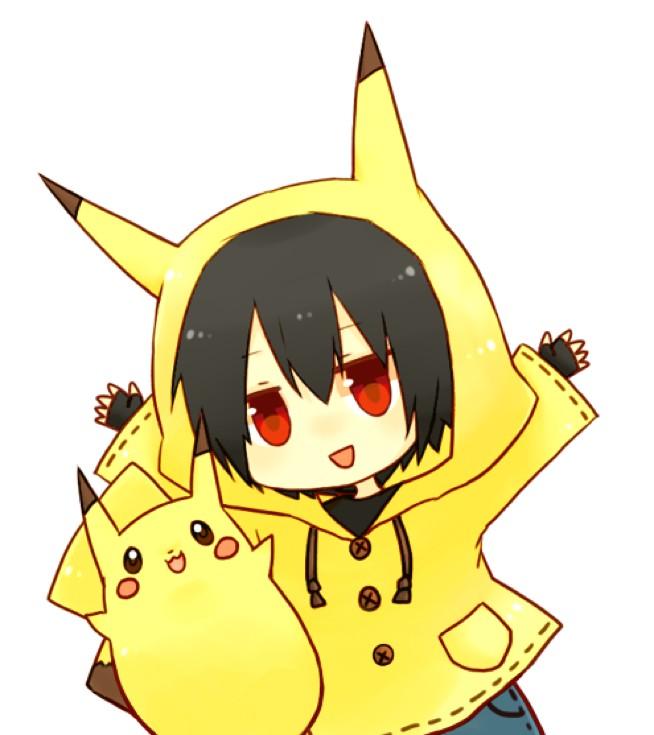 Tags: Anime, Pokémon, Red (Pokémon), Pikachu, Pikachu (Cosplay), Pokémon (Cosplay), Artist Request, Fanart, Pixiv