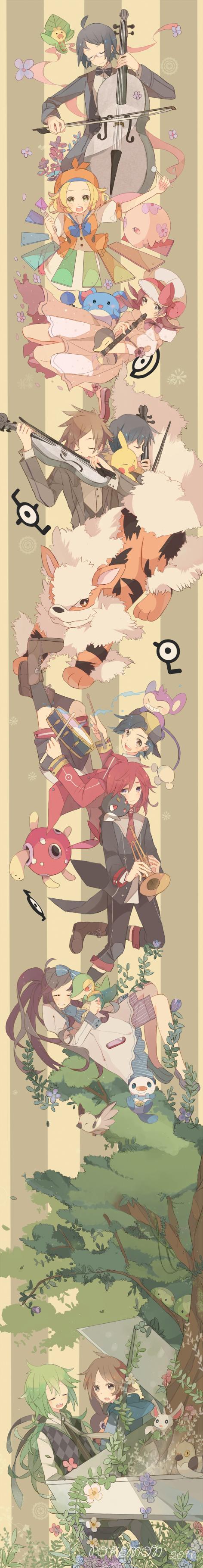 Tags: Anime, Kashi (Bluenest+), Pokémon, Marill, Sneasel, Snivy, Hibiki (Pokémon), Minccino, Shuckle, Green (Pokémon), N (Pokémon), Oshawott, Cyndaquil
