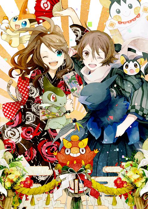 Tags: Anime, Akira Hou, Buzz, Pokémon, Deino (Pokémon), Darumaka, Touko (Pokémon), Hydreigon, Emolga, Touya (Pokémon), Victini, Haxorus, Axew