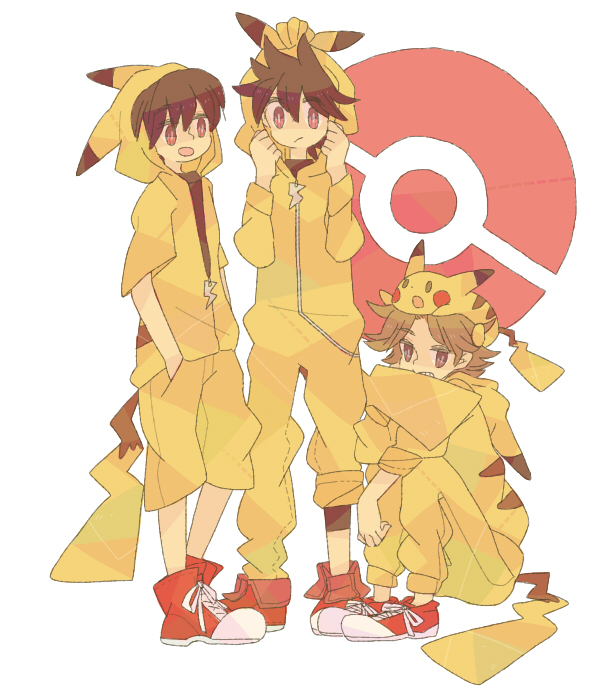 Tags: Anime, Pokémon SPECIAL, Pokémon, Fire (Pokémon), Red (Pokémon), Red (Pokémon SPECIAL), Pikachu, Pikachu (Cosplay), Pokémon (Cosplay), Pixiv, Artist Request, Fanart