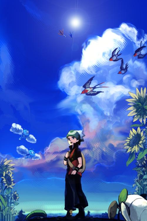 Tags: Anime, Pokémon, Taillow, Latias, Lotad, Swablu, Yuuki (Pokémon), Swellow, Latios, Legendary Pokémon, Mobile Wallpaper