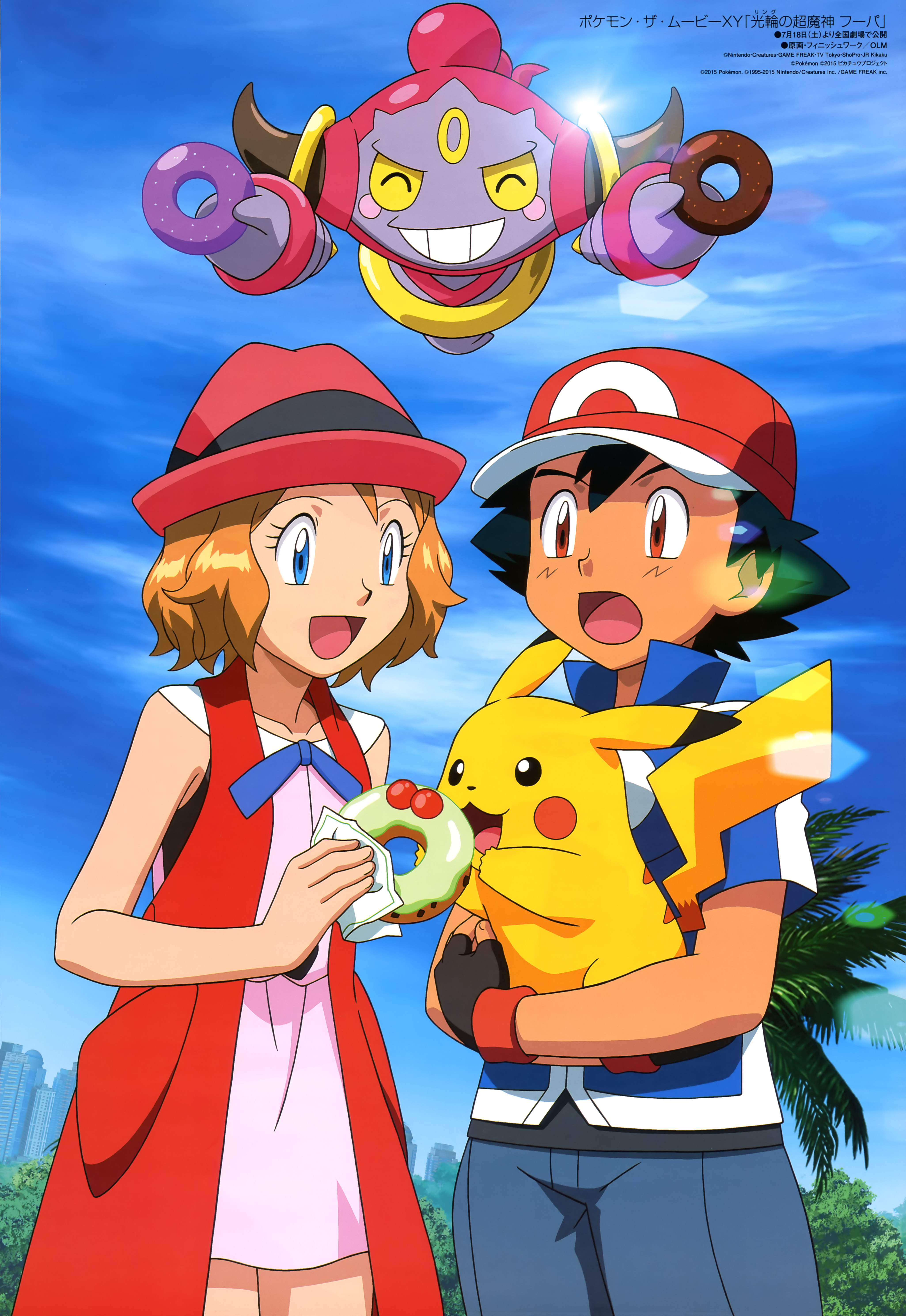 Pokemon The Movie Hoopa And The Clash Of Ages Mobile Wallpaper
