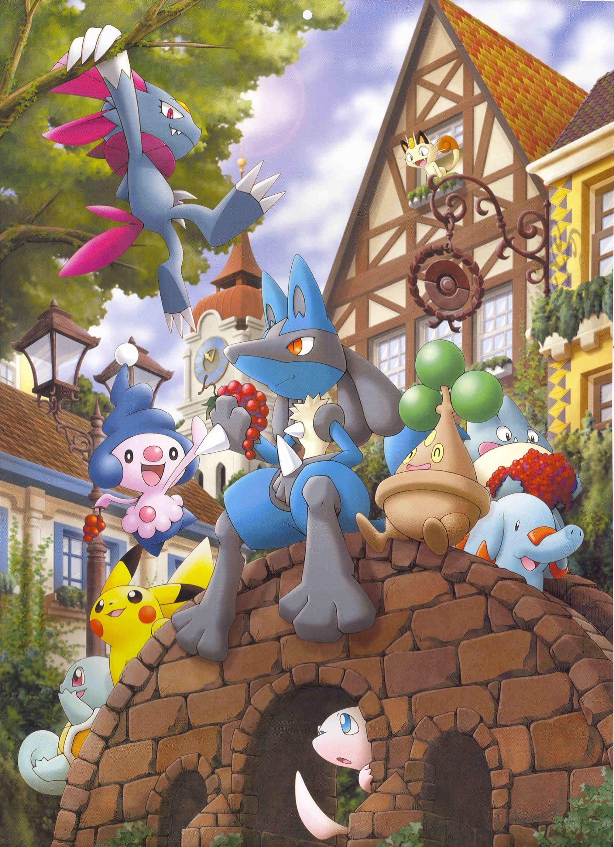 Pokemon The Movie Lucario And The Mystery Of Mew Mobile Wallpaper