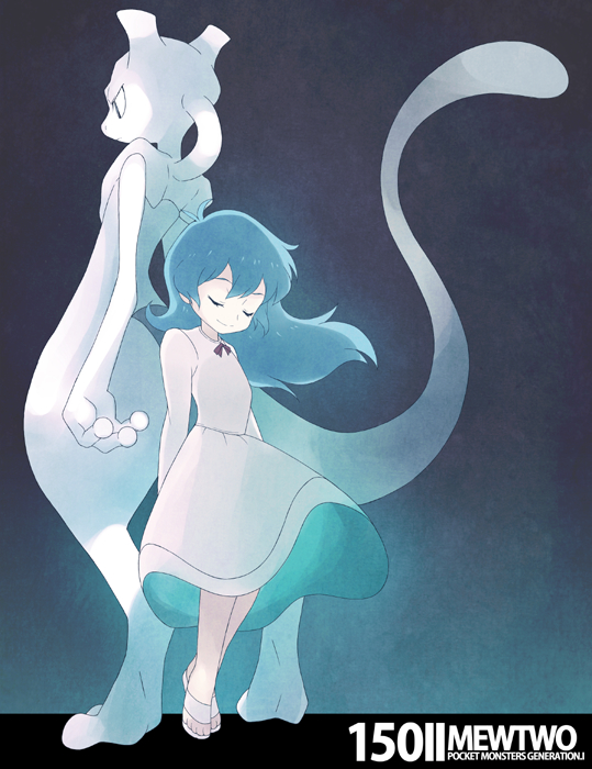 Tags: Anime, Souji (Pixiv194555), Pokémon (Anime), Pokémon the Movie: Mewtwo Strikes Back, Pokémon, Mewtwo, Ai (Pokémon), Legendary Pokémon, Fanart From Pixiv, Pixiv, PNG Conversion, Fanart