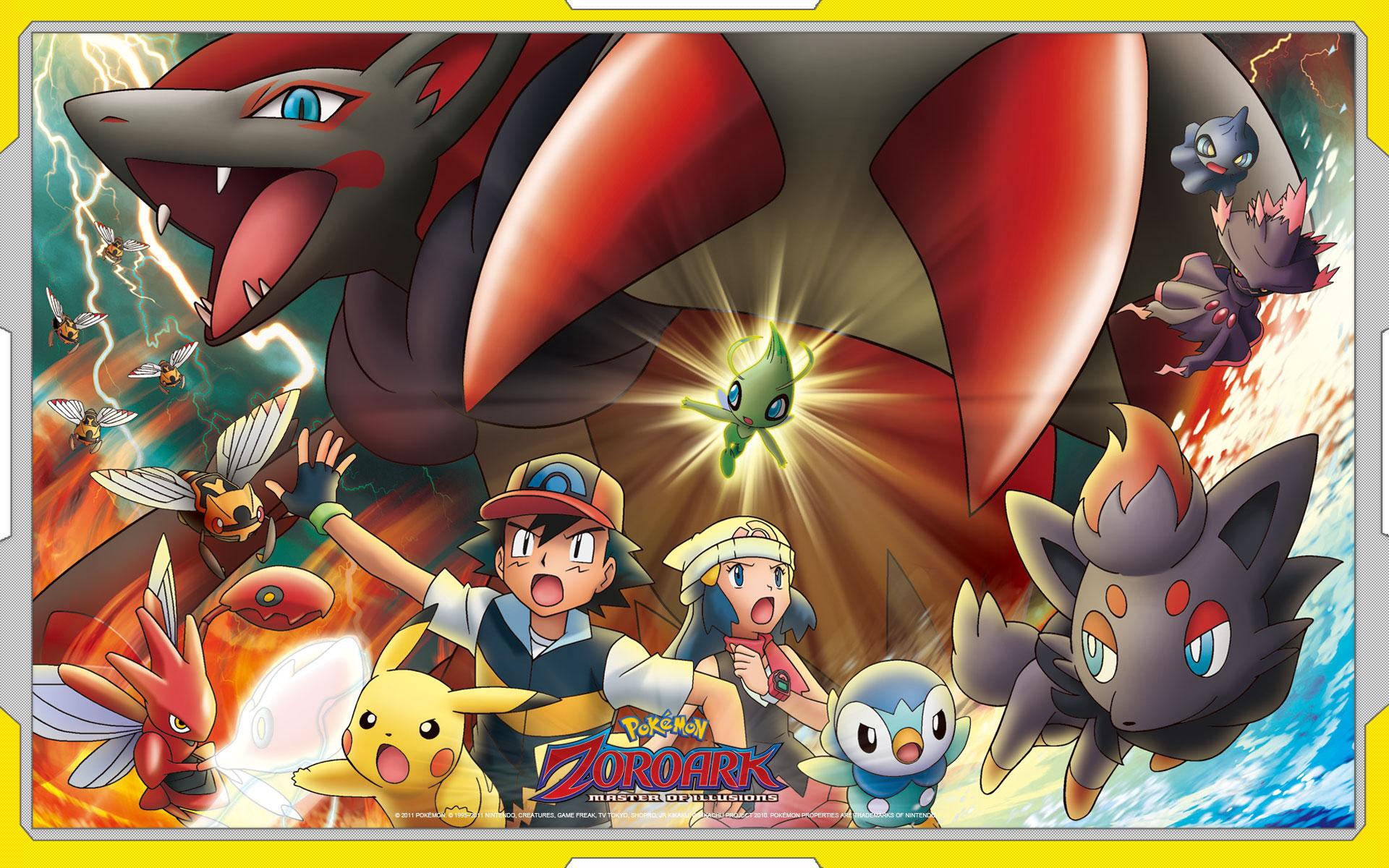 Pokémon the movie: zoroark: master of illusions zerochan anime.