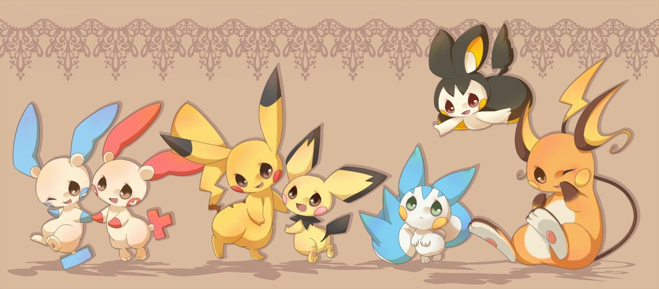 View Fullsize Pokemon Image  Pachirisu And Pichu