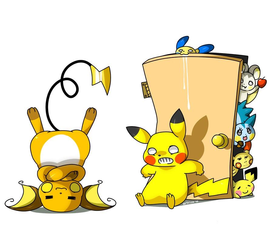 Pokemon  Minun  Pachirisu   Pachirisu And Pichu