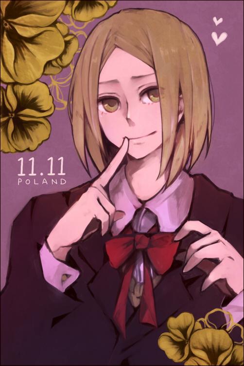 Tags: Anime, Muku02, Axis Powers: Hetalia, Poland, Pansy, Mobile Wallpaper, Pixiv, Fanart From Pixiv, Fanart