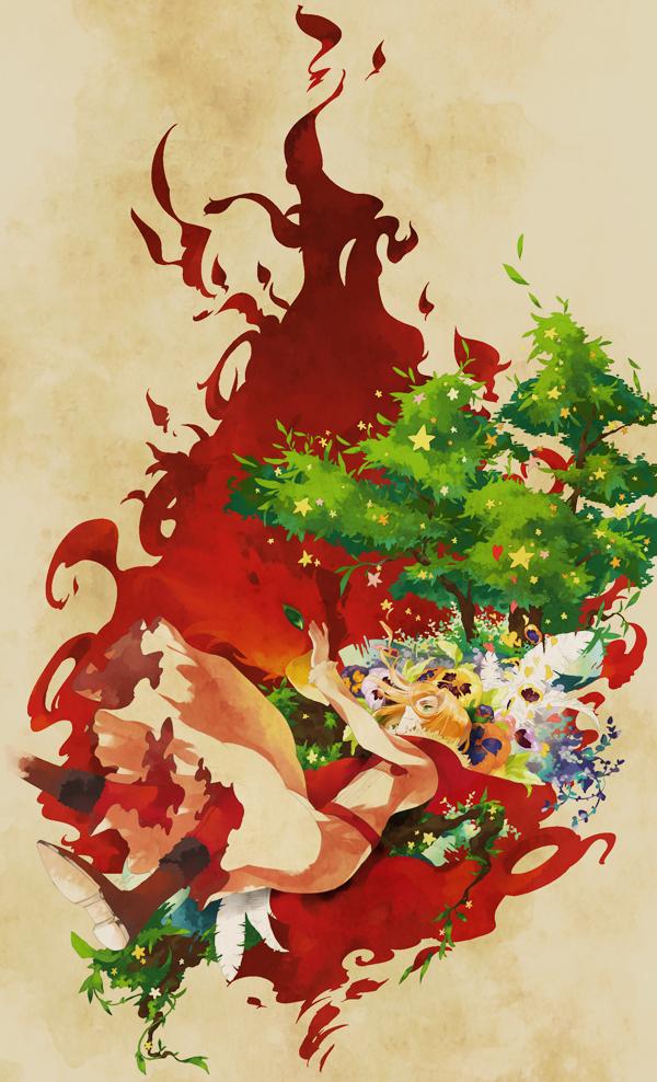 Tags: Anime, necömi, Axis Powers: Hetalia, Poland, Phoenix, Pansy, Christmas Ornament, Fanart, Mobile Wallpaper, Pixiv