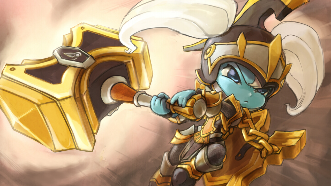 Poppy League Of Legends Wallpaper 1745754 Zerochan Anime