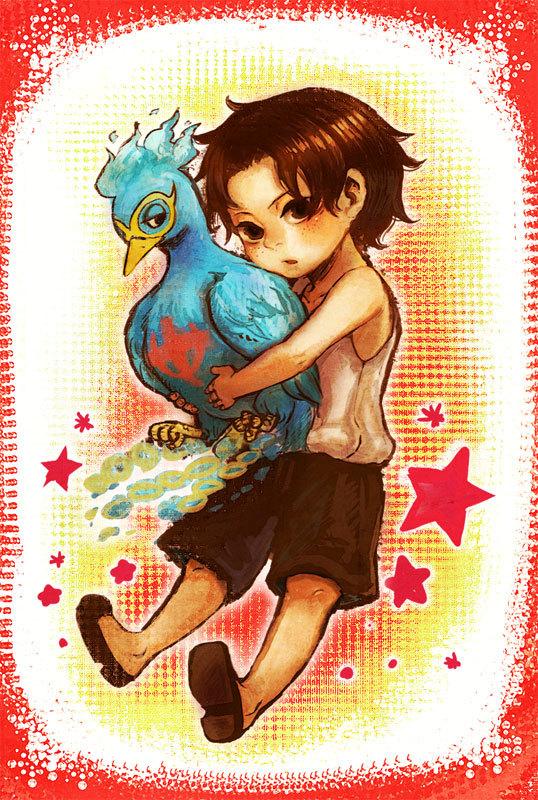 Tags: Anime, Pixiv Id 14630, ONE PIECE, Portgas D. Ace, Marco (ONE PIECE), Phoenix, Mobile Wallpaper, Pixiv, Whitebeard Pirates, Mace (ONE PIECE)