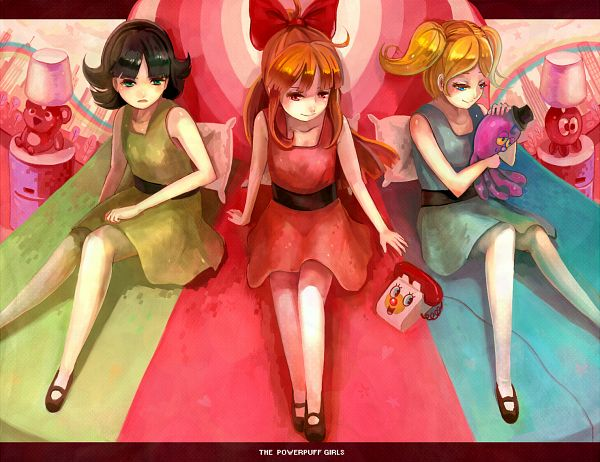 Tags: Anime, Samo, Power Puff Girls, Blossom (PPG), Bubbles (PPG), Octi, Buttercup (PPG)