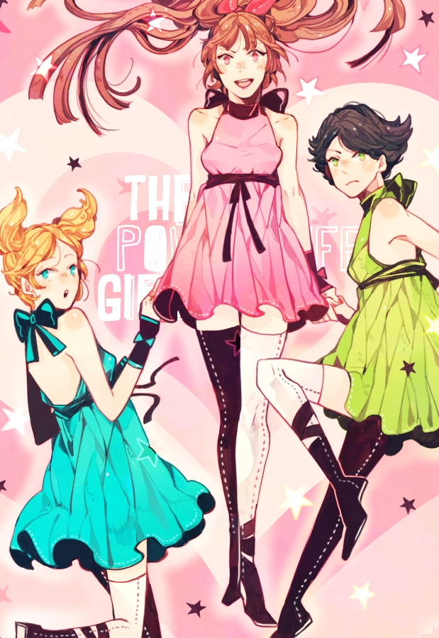 Tags: Anime, Duckhymn, Power Puff Girls, Buttercup (PPG), Blossom (PPG), Bubbles (PPG), Fanart, Mobile Wallpaper, Tumblr