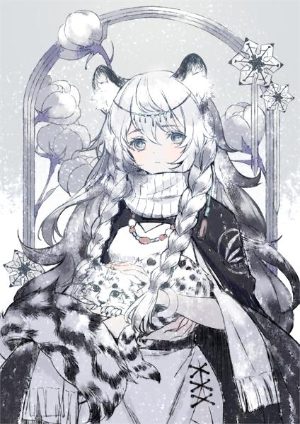 Tags: Anime, Pixiv Id 12723080, Arknights, Pramanix, Snow Leopard, Leopard