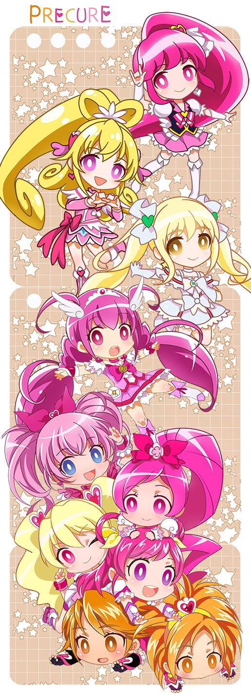 Tags: Anime, Xing, Futari wa Precure Splash Star, Smile Precure!, Suite Precure♪, Yes! Precure 5, Heartcatch Precure!, Fresh Precure!, Dokidoki! Precure, Futari wa Precure, HappinessCharge Precure!, Precure All Stars, Sakagami Ayumi