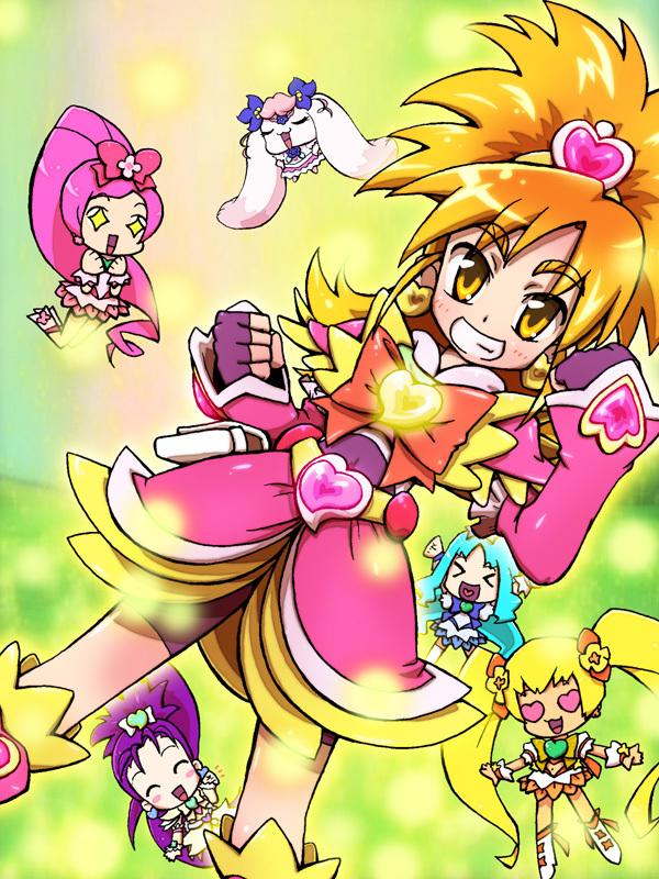 Tags: Anime, Iruka-margarine, Yes! Precure 5, Heartcatch Precure!, Futari wa Precure Splash Star, Precure All Stars, Mishou Mai, Myoudouin Itsuki, Cure Blossom, Cure Bloom, Cure Sunshine, Cure Marine, Cure Egret
