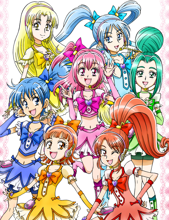 Tags: Anime, Konkichi, Pretty Cure Singers, Suzuran (Precure), Jun (Precure), Shasha (Precure), Mitanise, Mamekichi, Yuzutai, Makomo (Precure), Pixiv