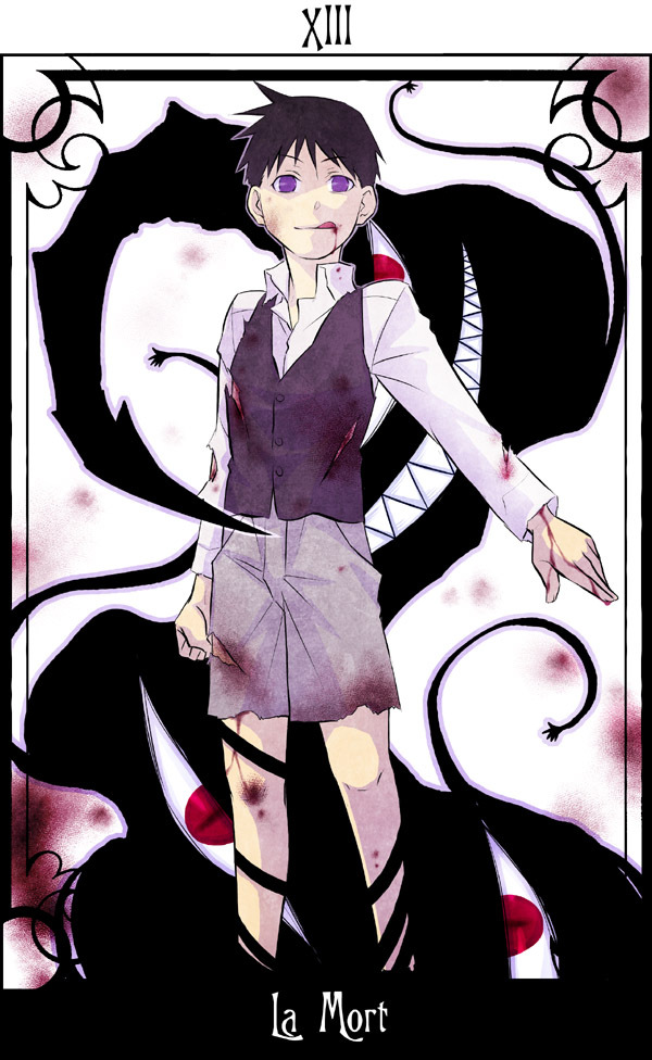 Tags: Anime, Selim Bradley, Pride (FMA), Tarot Cards, Death (tarot), Fanart, Mobile Wallpaper, Homunculi