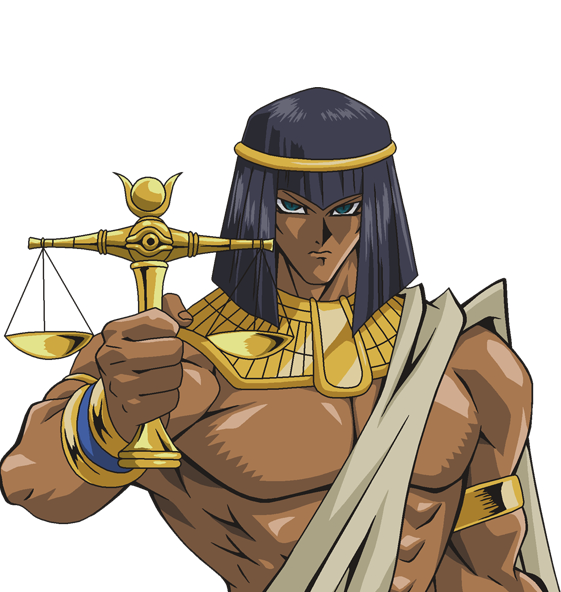 Tags: Anime, Studio Gallop, Yu-Gi-Oh! Duel Monsters, Yu-Gi-Oh!, Priest Karim, Egyptian Clothes, Millennium Scale, PNG Conversion, Official Art