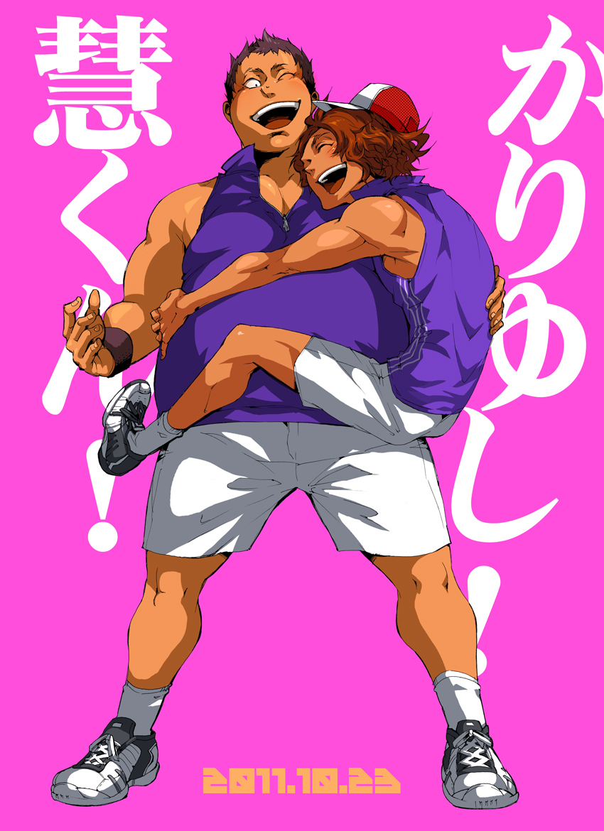 Tags: Anime, Prince of Tennis, Cap, Pink Background, Tennis Outfit ...