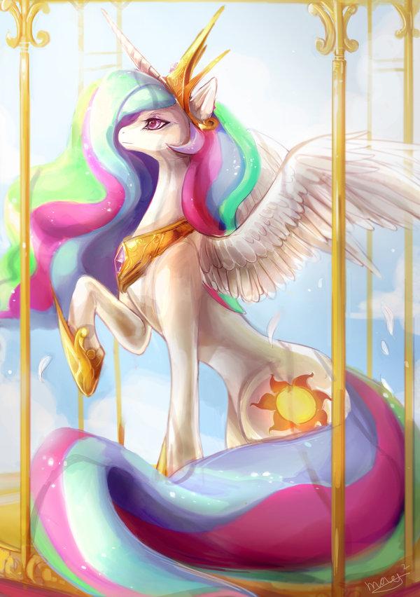 Tags: Anime, Maocha, My Little Pony, Princess Celestia, Alicorn, Cutie Mark, Mark, Purple Gem, Fanart From DeviantART, deviantART, Fanart