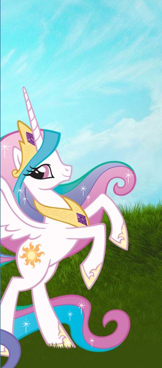 Tags: Anime, My Little Pony, Princess Celestia, Alicorn, Cutie Mark, Official Art