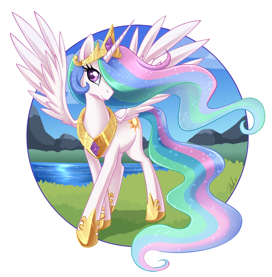 Princess celestia my little pony zerochan anime image - Princesse poney ...