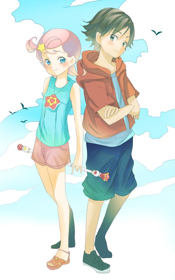 Tags: Anime, Pixiv Id 216802, Princess Comet, Comet (Princess Comet), Mishima Keisuke, Red Hoodie, Red Shorts, Fanart From Pixiv, Pixiv, Fanart