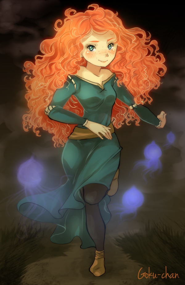 Tags: Anime, Goku-chan, Brave (Disney), Princess Mérida, deviantART, Fanart, Pixar, Mobile Wallpaper, Fanart From DeviantART, Disney