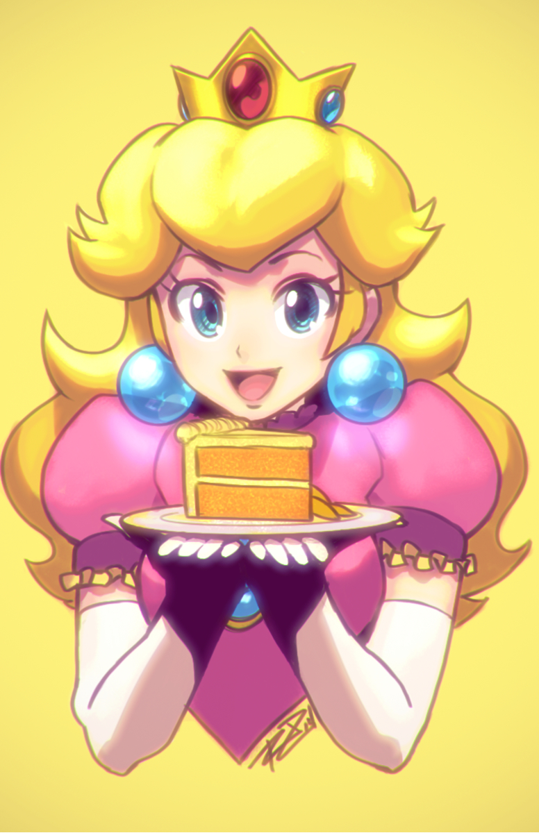 Princess Peach Castle Cake