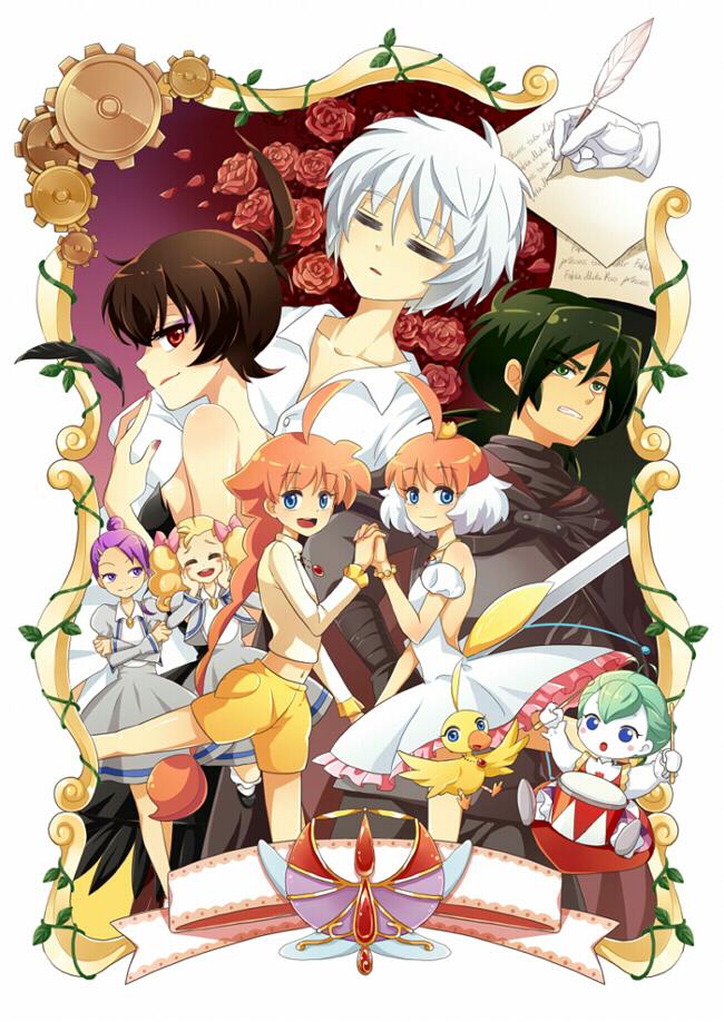 Tags: Anime, Pixiv Id 737618, Princess Tutu, Arima Ahiru, Fakir, Uzura (Princess Tutu), Mytho, Lilie (Princess Tutu), Princess Kraehe, Pike (Princess Tutu), Kuroha Rue, Princess Tutu (Character), Mobile Wallpaper