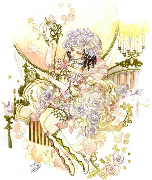 Tags: Anime, Sakizou, Saga Frontier, Princess White Rose, Lily (Flower), Pearls, White Flower