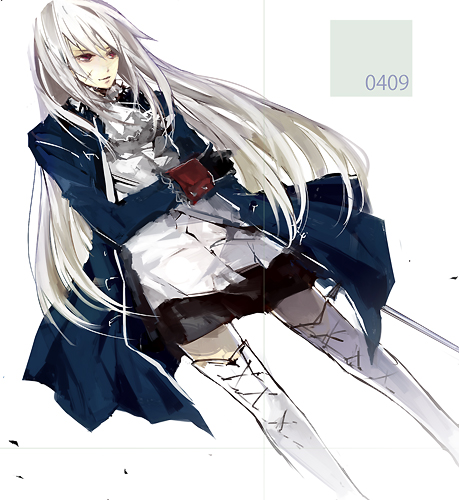 Tags: Anime, Hoka, Axis Powers: Hetalia, Prussia (Female), Fanart, Nyotalia, Pixiv