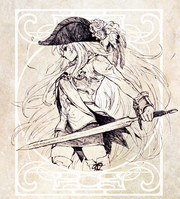 Tags: Anime, Jikayahato, Axis Powers: Hetalia, Prussia (Female), Hat Feather, Nyotalia