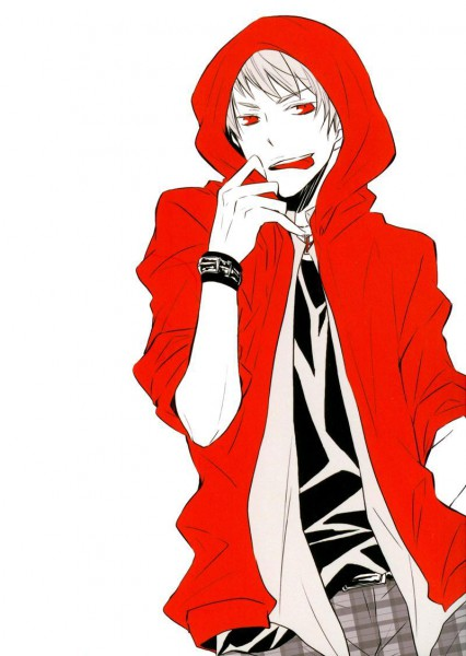 Tags: Anime, Axis Powers: Hetalia, Prussia, Red Hoodie, Spot Color