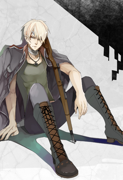 Tags: Anime, Gan (cosmos-will), Axis Powers: Hetalia, Prussia, Iron Cross, Bandaged Head, Fanart From Pixiv, Fanart, Mobile Wallpaper, Pixiv