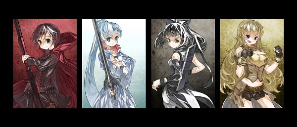Tags: Anime, Cusui, RWBY, Ruby Rose, Yang Xiao Long, Blake Belladonna, Weiss Schnee