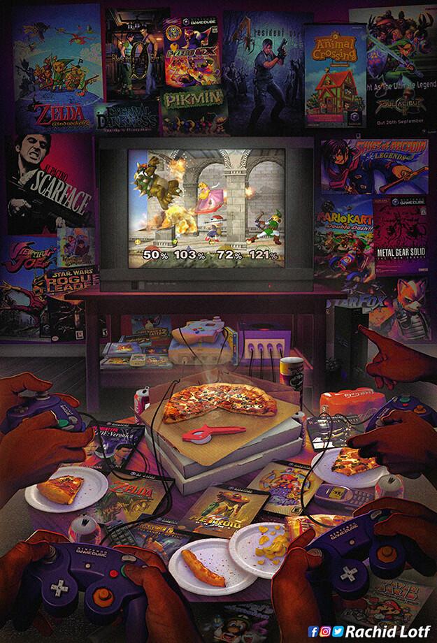 Tags: Anime, Rachid Lotf, Nintendo, Pikmin, Paper Mario: The Thousand-year Door, Super Mario Bros., Super Mario Sunshine, Luigi's Mansion, Star Fox, Mario Kart, Resident Evil 0, Super Smash Bros., Paper Mario