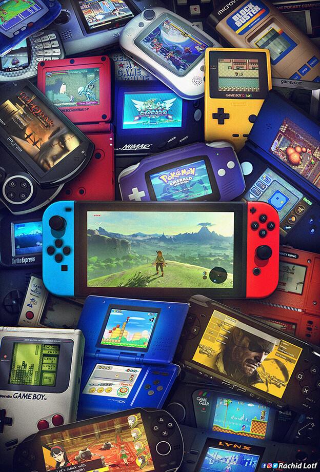 Tags: Anime, Rachid Lotf, Nintendo, Super Mario Bros., Sonic '06, God of War, Pokémon Ruby & Sapphire, Zelda no Densetsu, Zelda no Densetsu: Breath of the Wild, Pokémon, Sonic the Hedgehog, Super Nintendo, Nintendo DS