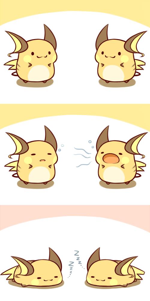pokemon comic Cute raichu