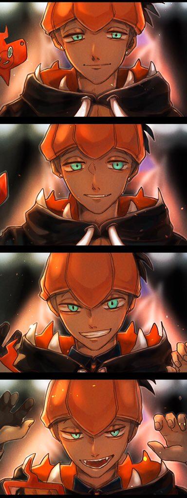 Tags: Anime, Pixiv Id 43988102, Pokémon Sword & Shield, Raihan, Rotom, Rotom Phone, Alternate Appearance