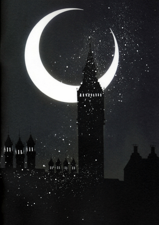 crescent moon   zerochan anime image board
