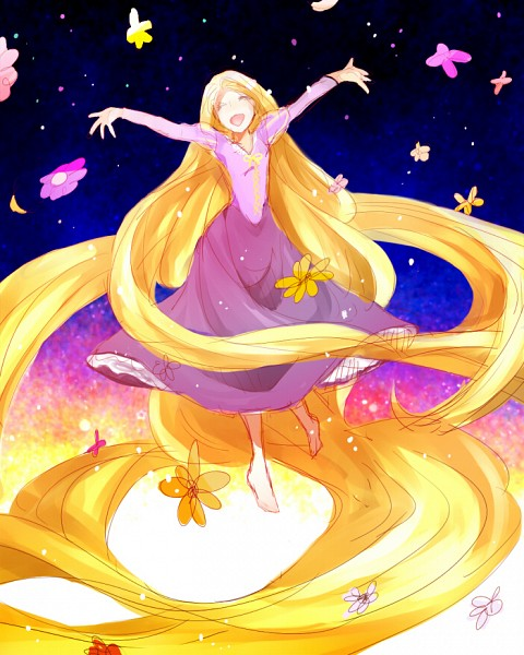 Tags: Anime, Pink Dress, Dancing, Pink Outfit, Rapunzel, Disney, Rapunzel (Character)