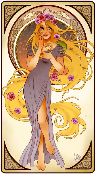 Tags: Anime, Art Nouveau, Disney, Rapunzel (Character), Tangled (Disney), Rapunzel (Tangled)