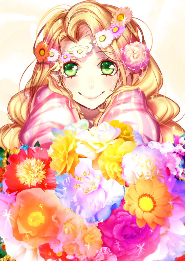 Tags: Anime, Rapunzel, Bouquet, Flower Crown, Hanasaki Mahiru, Rapunzel (Character), Tangled (Disney)