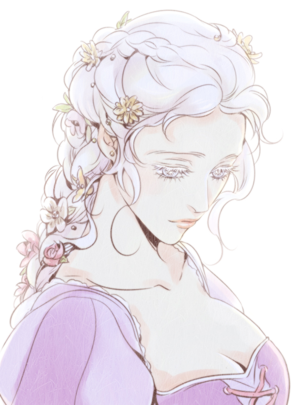Tags: Anime, Rapunzel, Looking Down, Disney, Rapunzel (Character), Pixiv Id 803075, Tangled (Disney)