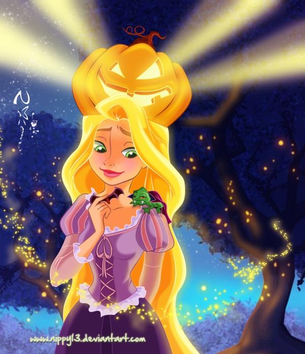 Tags: Anime, Halloween, Lizard, Disney, Rapunzel (Character), Tangled (Disney), Pascal (Tangled)