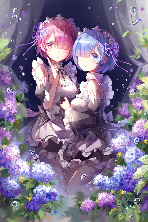 ReZERO Starting Life in Another World Ram Rem Wallpaper Poster 24 x 14 inches