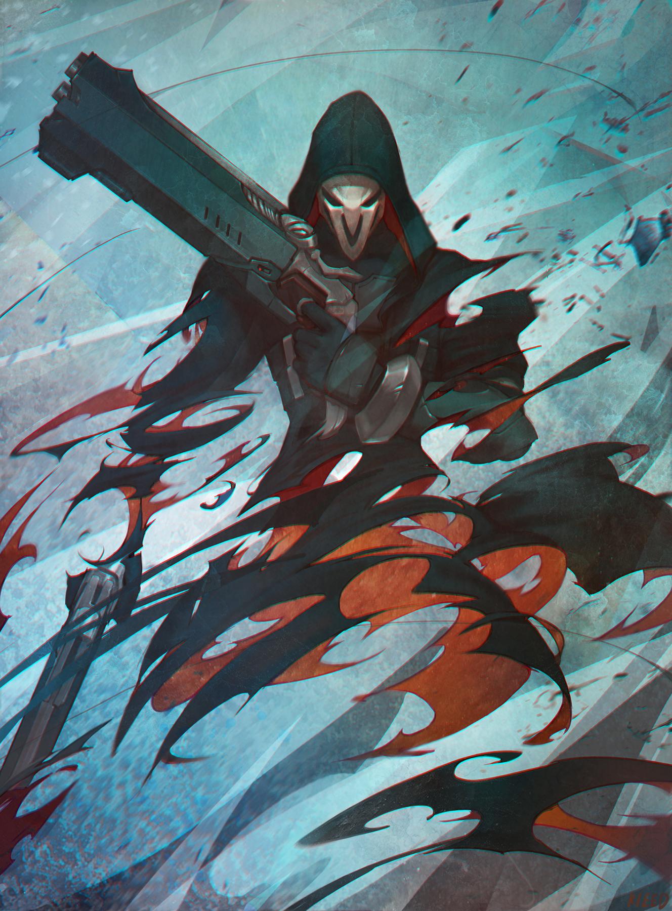 Reaper overwatch mobile wallpaper 2052973 zerochan - Fanart anime wallpaper ...